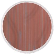 Red Metal Plate Round Beach Towel