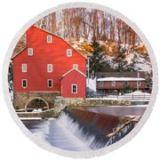 Red Mill Clinton New Jersey Round Beach Towel