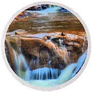 Red Mountain Creek Round Beach Towel