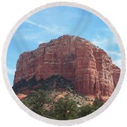 Red Mountain Round Beach Towel