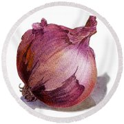 Red Onion Round Beach Towel