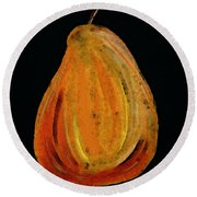 Red Pear - Delicious Modern Fruit Food Art Print Round Beach Towel