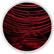 Red Rhythm II Round Beach Towel by Davorin Mance