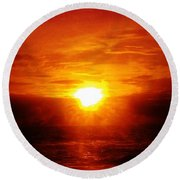 Red River Round Beach Towel