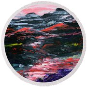 Red River Valley Round Beach Towel