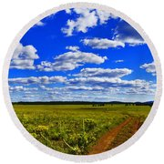 Red Road Round Beach Towel