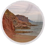 Red Rock By Sea Of Cortez From San Carlos-sonora Round Beach Towel
