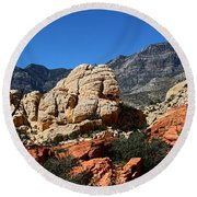 Red Rock Canyon 2 Round Beach Towel