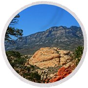 Red Rock Canyon 4 Round Beach Towel