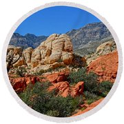 Red Rock Canyon 5 Round Beach Towel