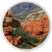 Red Rock Canyon 6 Round Beach Towel