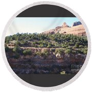 Red Rock Canyon In Arizona Round Beach Towel