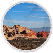 Red Rock Canyon Las Vegas Round Beach Towel