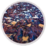 Red Rock Round Beach Towel