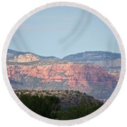 Red Rock Evening Round Beach Towel