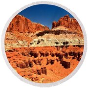 Red Rock Ridges Round Beach Towel