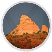 Red Rock Rising Round Beach Towel