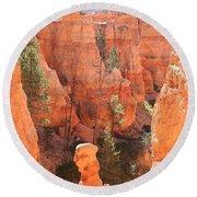 Red Rocks - Bryce Canyon Round Beach Towel