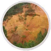 Red Rocks Of Roussillon Round Beach Towel