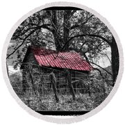 Red Roof Round Beach Towel