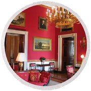 Red Room White House Round Beach Towel