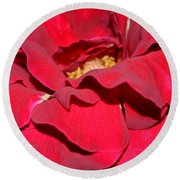 Crimson Blush 1.2 Round Beach Towel