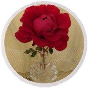 red rose III Round Beach Towel