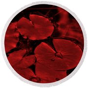 Red Ruby Tuesday Round Beach Towel