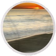 Red Sea Sunset Round Beach Towel