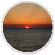 Red Sky At Night Round Beach Towel