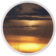 Red Sky - Gloaming Round Beach Towel