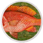Red Snapper Round Beach Towel