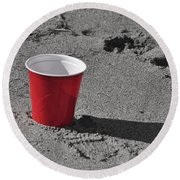 Red Solo Cup Round Beach Towel