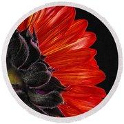 Red Sunflower Vii  Round Beach Towel