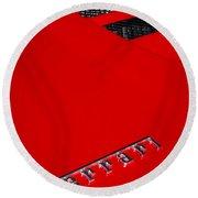 Red Supercar Round Beach Towel