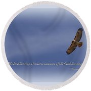 Red-tailed Hawk Card -bird Round Beach Towel