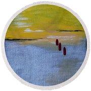 Red Tears Round Beach Towel