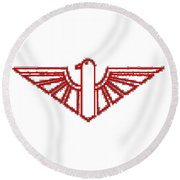Red Thunderbird 1 Round Beach Towel