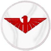 Red Thunderbird 2 Round Beach Towel