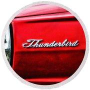 Red Thunderbird Round Beach Towel