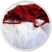 Red Round Beach Towel