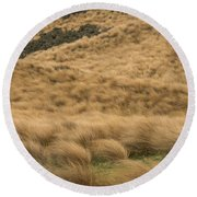 Red Tussock Preserve Round Beach Towel