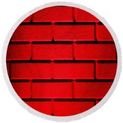 Red Wall Round Beach Towel by Semmick Photo
