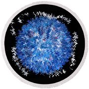 Red  White  Blue  Abstract Round Beach Towel