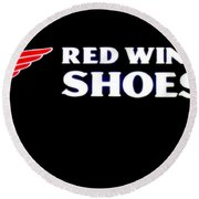 Red Wing Shoes 2 Round Beach Towel