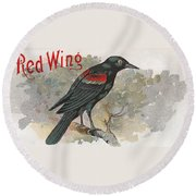 Red Wing Round Beach Towel