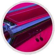Red1959 Cadillac Round Beach Towel