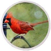 Redbird Alert Round Beach Towel
