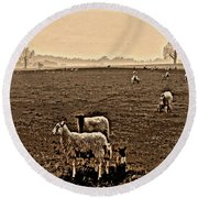 Redeemed By The Lamb Round Beach Towel