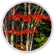Reds And Greens Round Beach Towel